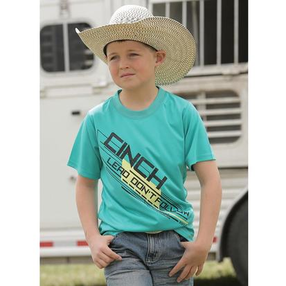 Cinch Boys' Green Lead Tee