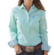Cinch Women's Western Long Sleeve Turquoise Shirt