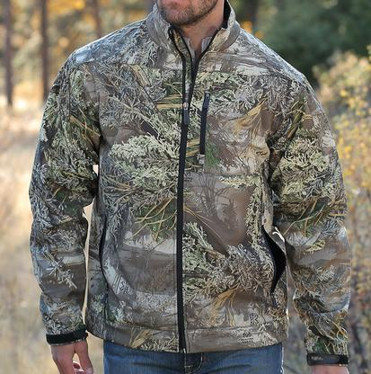 Cinch Mens Camo Print Concealed Carry Bonded Jacket