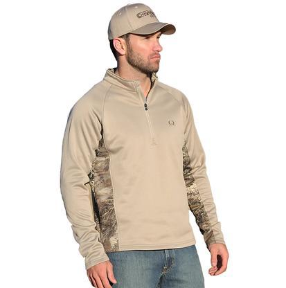 Cinch Mens Western Outdoor Fleece Gray Sweatshirt