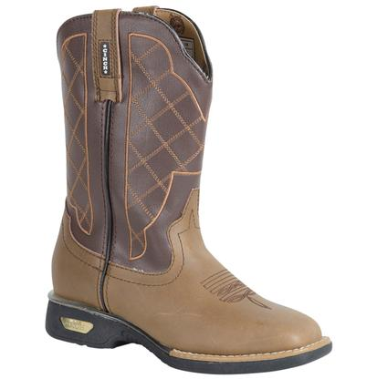 Women's Moody Brown & Gold Winged Caiman Cowgirl Boots
