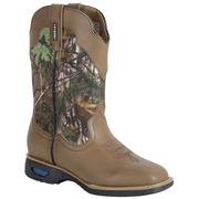 Cinch Boys ' Tan/Real Tree Kids Boots