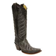 Corral Women's Black Crystal Inlay Boots