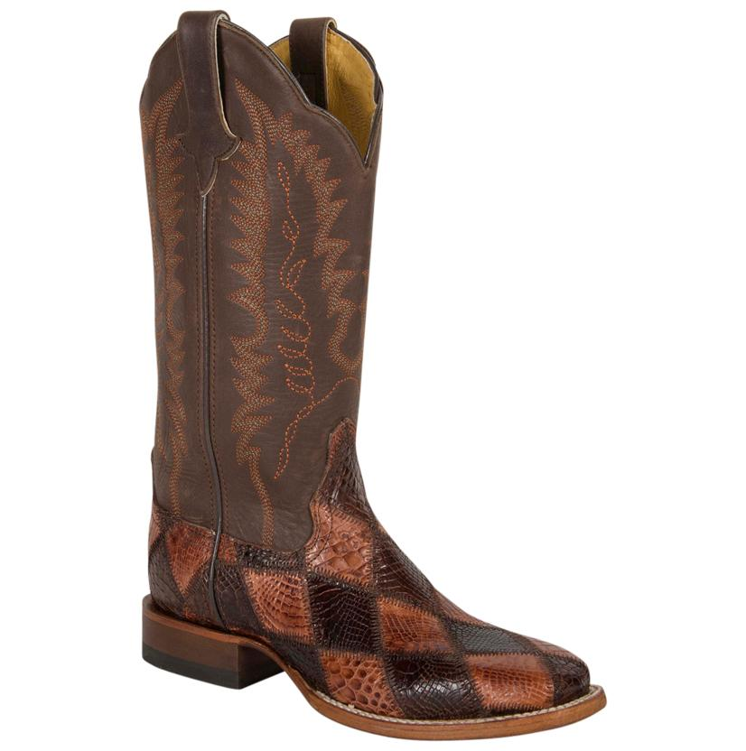 Cinch Western Women ' S American Alligator Chocolate & Cognac  Boots