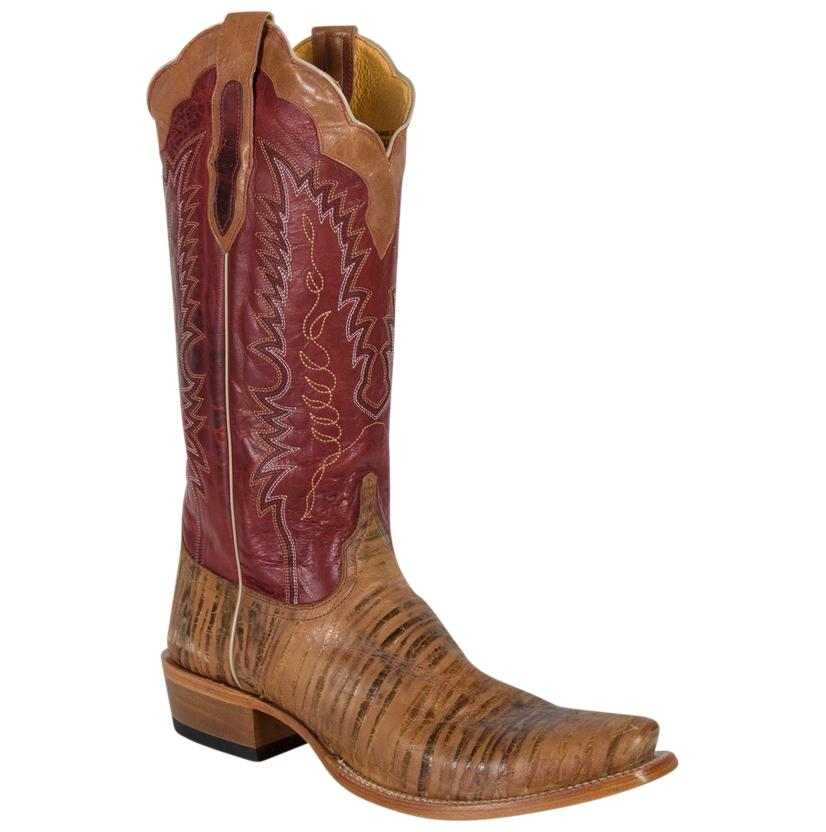 Cinch Mens Square Toe Oak Tan Leather Boots