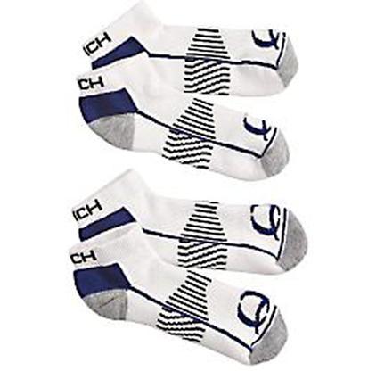 Cinch Men's White Athletic Ankle Socks