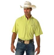 Cinch Mens Short Sleeve Solid Athletic Button Shirt
