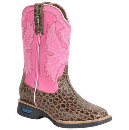 Cinch Girls WRX Kid Gator Print Work Boots