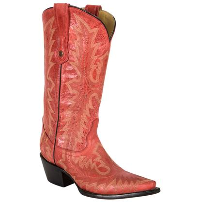 Corral Womens Red Picasso Cowgirl Boots