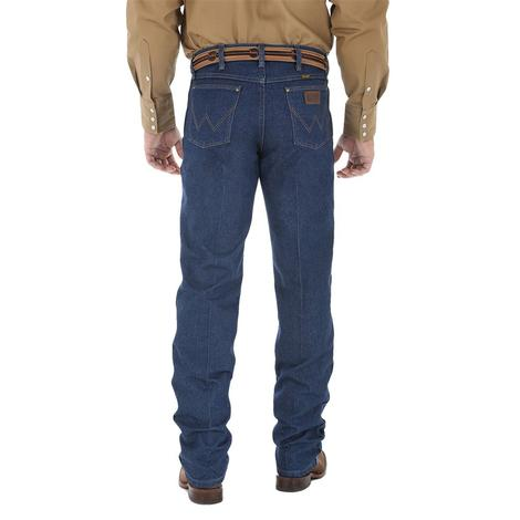 Wrangler Mens Premium Performance Cowboy Cut Regular Fit Jeans - Prewashed (Extended Length)