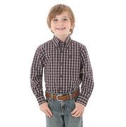 Wrangler Boys' George Strait Plaid Shirt