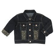 Wrangler Baby Girl Denim Jacket w/Animal Print Accents