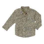 Wrangler Baby Girl Long Sleeve Leopard Print Western Shirt