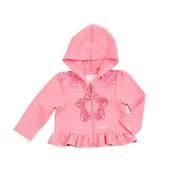 Wrangler Girls' Infant Toddler All Around Baby Ruffled Hoodie