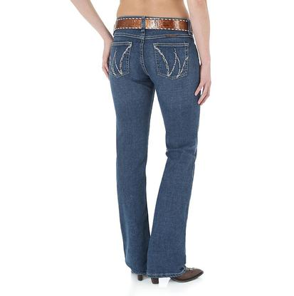 Wrangler Q Baby Boot Cut Mid-Rise Stretch Riding Jeans