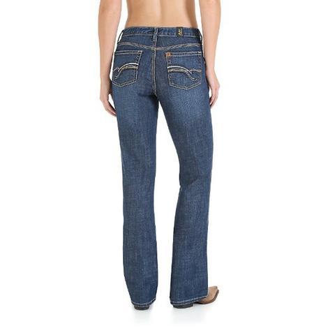 Wrangler Women's Slimming Boot Cut Western Jeans