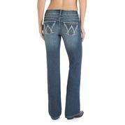 Wrangler Women's Mae Medium Blue Above Hip Rise Boot Cut Jean