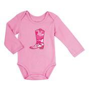 Wrangler Infant-Girls' Long Sleeve Cowgirl Boot Bodysuit
