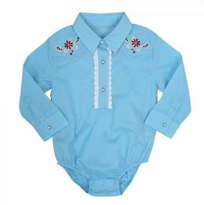 Wrangler Girls All Around Baby Light Blue Infant Bodysuit