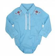 Wrangler Girls All Around Baby Light Blue Infant Bodysuit