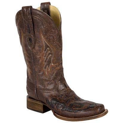 Corral Women's Brown and Chocolate Python Boots