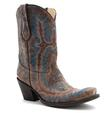 Corral Women's Distressed Brown With Turquoise Stitching Boots