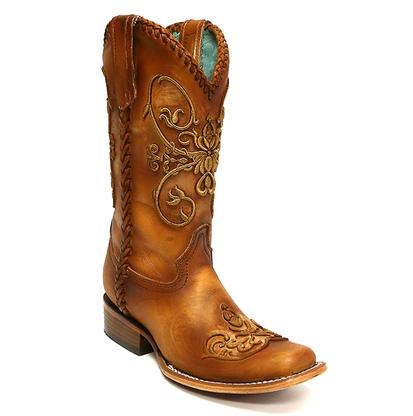 Corral Tan Cowhide Whip Stitch Women's Boot