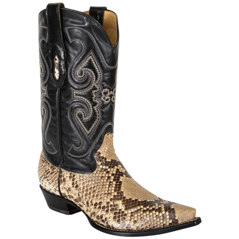 Corral Mens Exotic Natural Python Pointed Toe Cowboy Boots