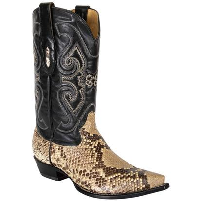 Corral Men's Exotic Natural Python Pointed Toe Cowboy Boots