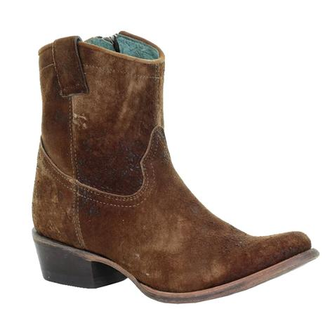 Corral Chocolate Tan Lamb Short Top Women's Boot