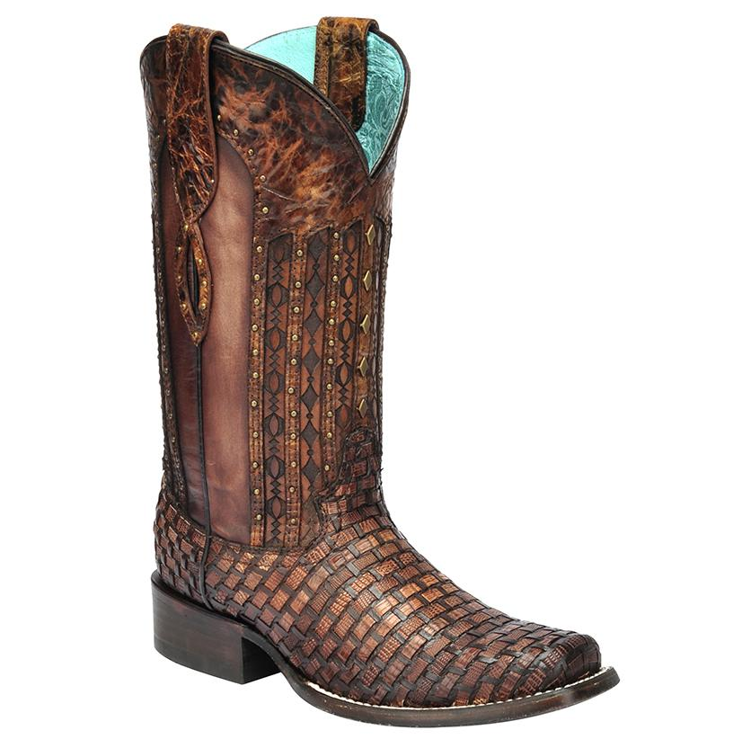 Corral Women's Exotic Lizard Woven Cowgirl Boot