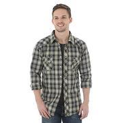 Wrangler Mens Long Sleeve Western Snap Plaid Sawtooth Shirt