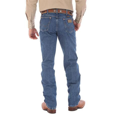 Wrangler Mens Original Fit Cowboy Cut Jeans - Stonewashed  (Extended Length)