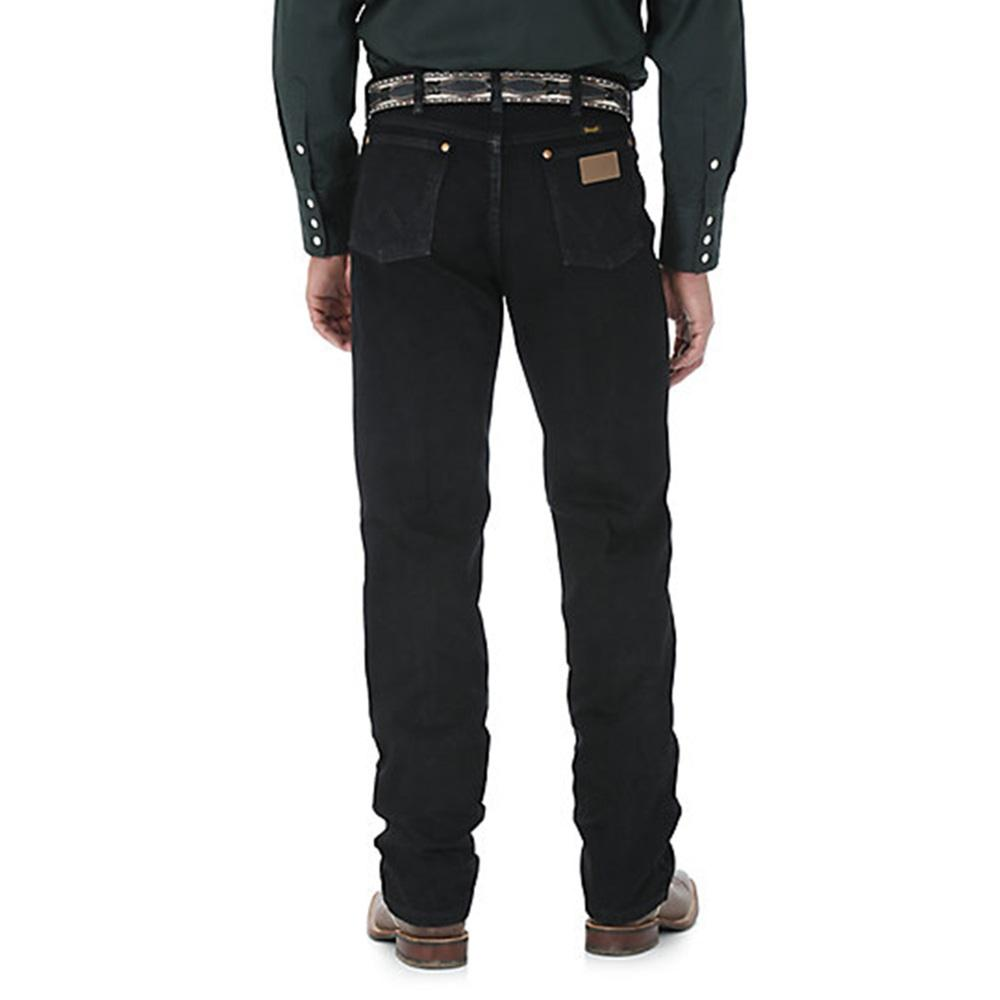 Wrangler Mens Cowboy Cut Original Fit Jean - Shadow Black (Extended Waist)