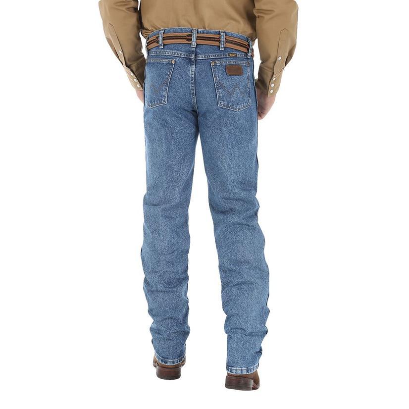 Wrangler Mens Premium Performance Cowboy Cut Regular Fit Jeans - Dark Stone