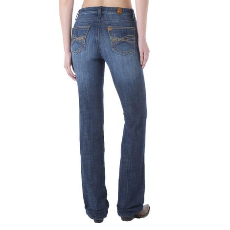 Wrangler Womens Aura Instantly Slimming Booty Up Bootcut Jeans