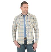 Wrangler Mens Long Sleeve Multi Plaid Snap Shirt