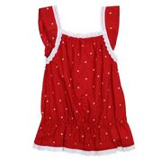 Wrangler Infant Girls Red and White Eyelet Trim Tank Top