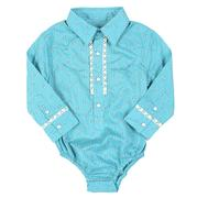 Wrangler Infant Girls Paisley Teal Onesies