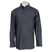 George Strait by Wrangler Mens Long Sleeve Plaid Shirt