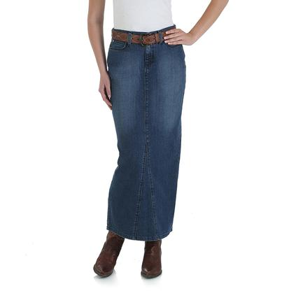 Wrangler Womens Classic Fit Long Denim Skirt