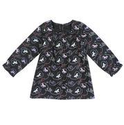 Wrangler Girls' Infant/Toddler Long Sleeve Printed Tunic Shirt