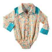 Wrangler Infant Girls' All Around Baby Floral Long Sleeve Bodysuit