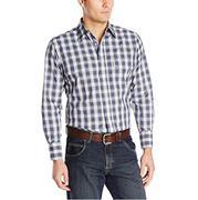 Wrangler Mens Long Sleeve Snap Western Shirt
