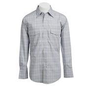 Wrangler Mens Wrinkle Resist Poplin Plaid Shirt