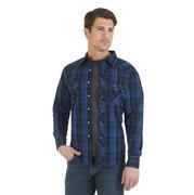 Wrangler Mens Royal Blue Western Jean Shirt