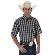 Wrangler Mens George Strait Western Short Sleeve Shirt