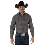 George Strait Long Sleeve Button Down Collar Plaid Shirt
