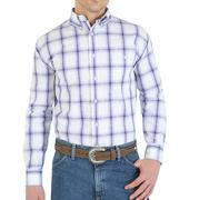 Wrangler Mens George Strait Plaid Western Shirt