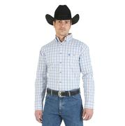 Wrangler Mens George Strait Plaid Shirt